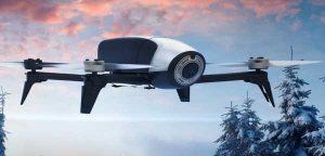 Квадрокоптер Parrot Bebop Drone 2 в полете