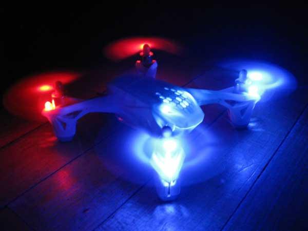 Подсветка квадрокоптера HUBSAN FPV X4 H107D