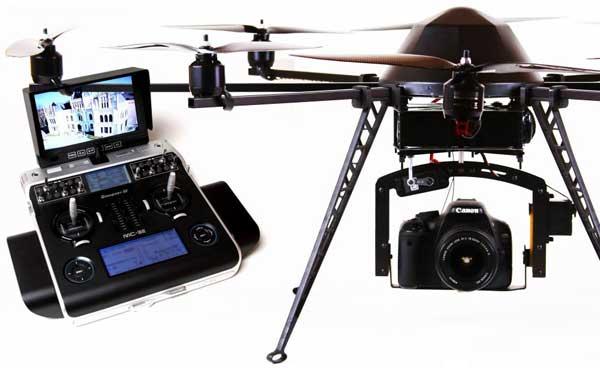 Октокоптер Mikrokopter Okto XL и его пульт управления