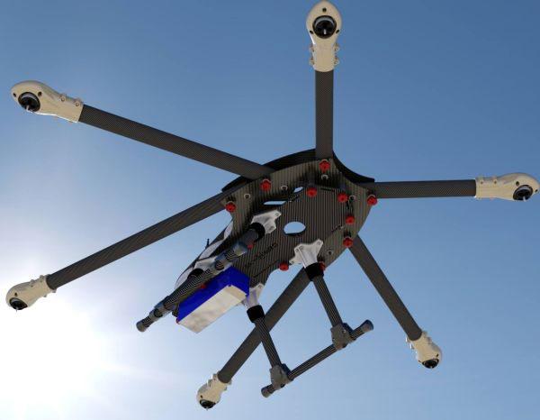 Гексакоптер Sky Hero Spyder6 в воздухе