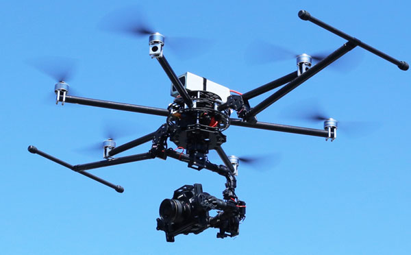 Гексакоптер Turbo Ace Cinewing 6 HL в полете