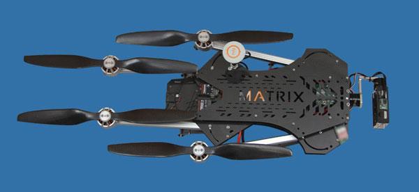 Квадрокоптер Turbo Ace Matrix в сложенном состоянии