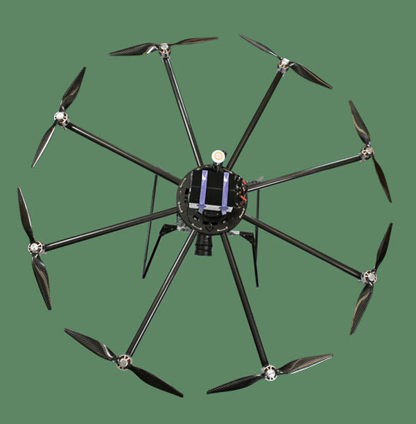 Октокоптер Turbo Ace Infinity 9PRO: вид сверху
