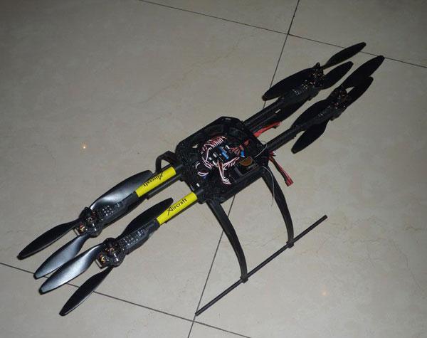 Квадрокоптер Xaircraft X650 в сложенном виде