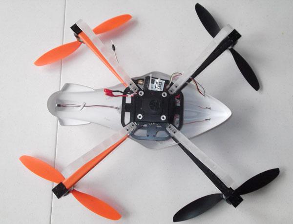Квадрокоптер Walkera QR X400: вид сверху