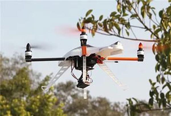 Квадрокоптер Walkera QR X400 в полете