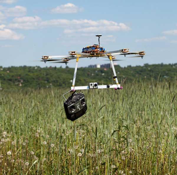 Гексакоптер в полете